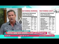 Pedro Grez enseñó a leer etiquetas nutricionales LA MAÑANA - YouTube Menu Dieta, Ketogenic Diet, Periodic Table, Food And Drink, Youtube, Diets, Periotic Table, Youtubers, Youtube Movies