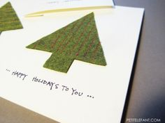 how-to DIY christmas card. Now I know what to do with all that left over green felt!