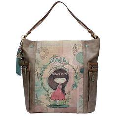 Anekke Nature Τσάντα χειρός ώμου (μεγάλη) Ballerina, Diaper Bag, Diy And Crafts, Dolls, Tote Bag, Grande, Bags, Fashion, Templates