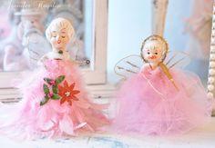 #Vintage #Pink #Christmas Angels