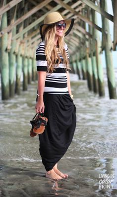 Under the Pier | floppy hat + maxi skirt