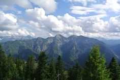 View of the Alps from Ruhpolding, Germany