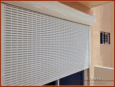 Κατασκευή και τοποθέτηση ηλεκτροκίνητου ρολού αλουμινίου με περσίδα που διαθέτει μεγάλες οπές για καλύτερο αερισμό. Home Appliances, House Appliances, Kitchen Appliances, Appliances