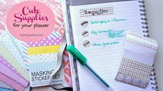 """I have been sucked into the """"decorating your planner"""" trend that apparently has been going on for a long time. There's nothing like p..."""