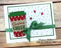 Scrapbook Layout Christmas Stampin Up - One Of My Favorites Merry Cafe! Christmas Scrapbook, Christmas Cards To Make, Xmas Cards, Handmade Christmas, Holiday Cards, Simple Christmas, Advent, Chocolate Card, Coffee Cards