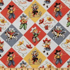 Michael Miller Yippee Cowboy Retro- Just ordered this one for my next quilt (for the boys, of course!)