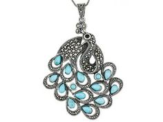 Tillya Treasures(Tm) Turquoise W/ 1.80ctw Garnet