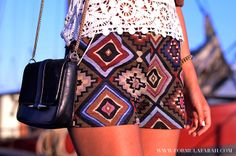 Close up of these beautiful inca shorts! Check out more on www.formulafarah.com. By Formula Farah #fashion #blogger #fashionblogger #formulafarah #detail #shorts #inca #lace