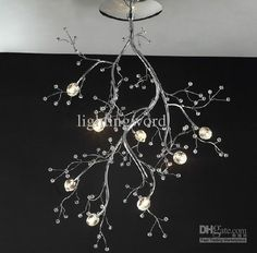 Postmodern Personality Crystal Ceiling Lamp Branches Chandelier Living Room Dining Room Lighting from Lightingword,$396.92 | DHgate.com