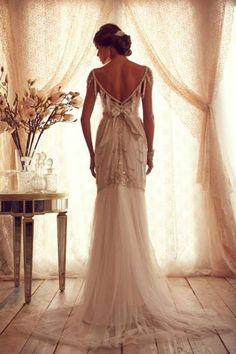 Gorgeous Gatsby style #weddingdress. Perfect for a #Gatsby themed #wedding at Kirtlington Park.