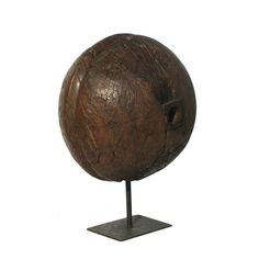 Naam: hout bal Art. No: VIN-114 Materiaal: hout/ijzer Hoogte: 44cm Diameter:33cm #vintage #armatuur #lamp #antiek #verlichting Vintage Industrial, Globe, Speech Balloon