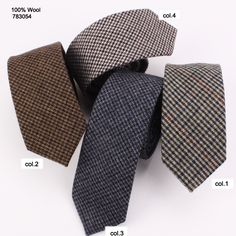 low price classic paid four color causal mens wool neckties 783054 Casual Tie, Men Casual, Wool Tie, Neckties, Classic, Collection, Color, Derby, Colour