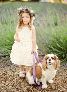 My flower girl to be would <3 to have a pic like this taken with my doggy!