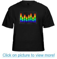 Multicolor Fusion Sound Equalizer Rave T-Shirt With Sound Sensor