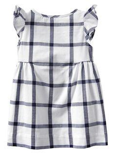 Plaid flutter dress Product Image