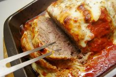 Oh Yum! Parmesan Meatloaf-Oh Yum! Parmesan Meatloaf I brows… – Meat Foods Ideas Turkey Recipes, Meat Recipes, Chicken Recipes, Cooking Recipes, Recipies, Yummy Recipes, Ninja Recipes, Yummy Food, Turkey Dishes