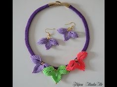 DIY Macrame tutorial. How to make pretty sweet macrame flowers for earrings or necklace. - YouTube