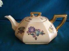 Tetera Art Decó Limoges Haind painted     Inf- 15-30144082 mailto:retroteaan... Face; Retrotea andcoffee
