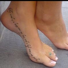 """Love this on your foot. Different font though. """"Thy word is a lamp unto my feet, and a light unto my path"""""""