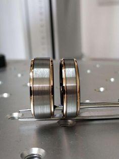 #Tungsten #Wedding #Band #Set #Tungsten #Ring #Men's #Tungsten | Etsy #Gunmetal #Tungsten #Gunmetal #Ring #Black #Tungsten #Rose #Gold #Ring #Rose #Gold #Tungsten #Women's #Ring #Gunmetal #Rose #Gold #Gunmetal #8mm #Rose #Gold #Gunmetal #Tungsten #Rose #Gold #Gunnmetal #Ring #Tungsten #Set Unique Wedding Bands, Wedding Band Sets, Wedding Rings, Meteorite Ring, Tungsten Carbide Rings, Tungsten Wedding Bands, Ring Set, Couple Rings, Rings For Men