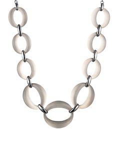 Alexis Bittar Lucite Link Necklace, 18 In Gray Women Accessories, Jewelry Accessories, Shop Alexis, Alexis Bittar, Sale Items, Luxury Branding, Color Pop, 18th, Link