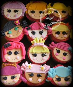 Lalaloopsy cupcakes www.facebook.com/youvebeencupcaked