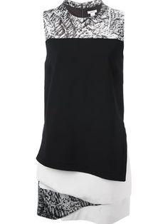 Helmut Lang multi print dress