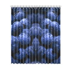 Blueberries Window Curtain. More sizes available. FREE Shipping. #erikakaisersot #artsadd #windowcurtains