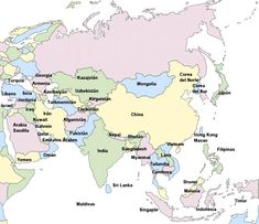 mapa fisico de europa con todos los nombres de las islas en ingles