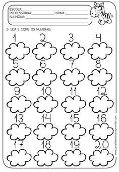 A Arte de Ensinar e Aprender: Atividade pronta - Números do 1 ao 20