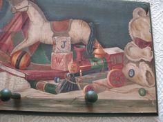Antique Toy Motif for Child's Peg Rain