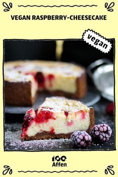 Vegan Raspberry-Cheesecake ► Vegane Rezepte auf cookies and cream cookies christmas cookies easy cookies keto cookies recipes easy Vegan Dessert Recipes, Healthy Desserts, Raw Food Recipes, Raspberry Cheesecake, Cheesecake Recipes, Raspberry Recipes, Vegan Cheesecake, Cheesecake Cookies, Chewy Sugar Cookies
