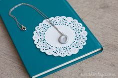 I kept seeing those really pretty fingerprint necklaces in the shape of a heart and really wanted one, but they were REALLY expensive...problem solved! DIY! :)