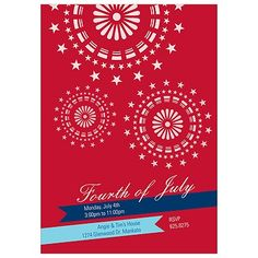 Sparkle in the Sky -- 4th of July Party Invitations
