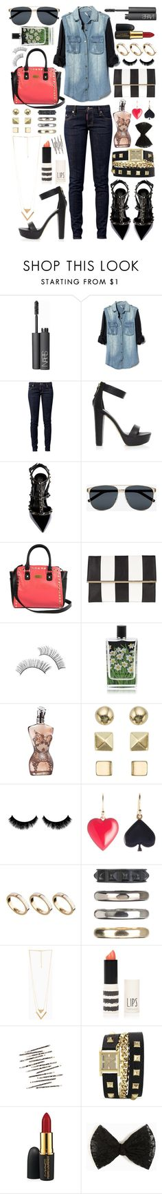 """Untitled #186"" by daneecalifornia ❤ liked on Polyvore featuring NARS Cosmetics, Dsquared2, Valentino, Yves Saint Laurent, Dorothy Perkins, Nest Fragrances, Jean-Paul Gaultier, Accessorize, N2 By Les Nereides and ASOS"