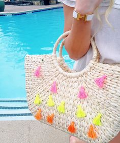 colorful tassel bag