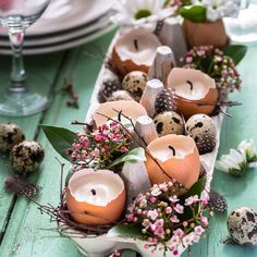 The 10 Best Home Decor (with Pictures) - Deko für den Osterbrunch Shell Decorations, How To Make Light, Color Blending, Egg Shells, Ag Dolls, Guys And Girls, Wooden Beads, Easter Eggs, Diy And Crafts