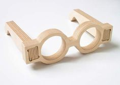 London architect Lynton Pepper of 00:/ designed these open-source spectacle frames in 18mm plywood to be made from the offcuts of his studio's WikiHouse project. via Dezeen