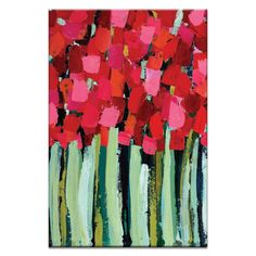 Fire Reds by Anna Blatman Painting Print on Wrapped Canvas