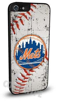 New York NY Mets Cell Phone Hard Case for iPhone 6, iPhone 6 Plus, iPhone 5/5s, iPhone 4/4s or iPhone 5c