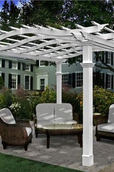 The perfect way to build great pergolas is to refer to the pergola plans. Whether you are building it yourself or with the help of contractors, you must study several plans and select the right one so that the work will be lot easier. Pergola Diy, Building A Pergola, Wood Pergola, Pergola Garden, Pergola Canopy, Outdoor Pergola, Pergola Plans, Pergola Ideas, Pergola Shade