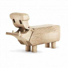 Kay Bojesen Hippo, #Kay_Bojesen #wooden_figure #Classic #Toys #Wood_Design www.artvoll.de