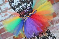 Rainbow Tutu by HappyGirlsBoutique on Etsy, $20.00