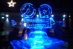 Old fashioned style Cinema projector Ice Sculpture