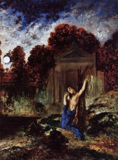 Orpheus at the Tomb of Eurydice by Gustave Moreau  1891  oil on canvas  Musee Gustave Moreau