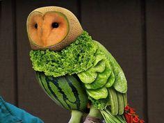 Food sculpture.