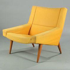 Illum Wikkelsø; Teak Easy Chair for Soren Willadsen, 1950s.