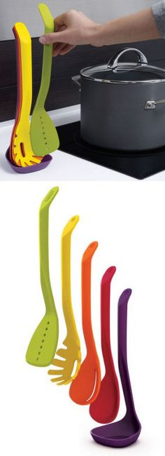 Space Saving - Stacking Kitchen Cooking Utensils <3 #organize