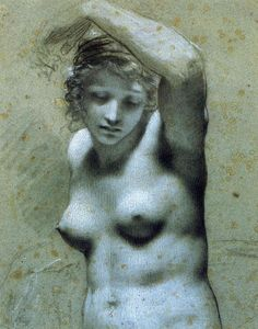 Bust of female nude, Pierre-Paul Prud'hon