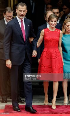 King Felipe VI of Spain and Queen Letizia of Spain attend the commemoration of first democracy election at Congress of deputies on June 28, 2017 in Madrid, Spain.